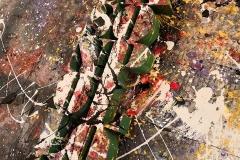 Jackson Pollock scultura in mdf, vernice e dripping, 50 x 16 x 3 cm, 2018 tiratura 1 - 8