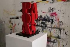 Pablo Picasso scultura in mdf e vernice, 39 x 13 x 13 cm, 2018 tiratura 1 - 8