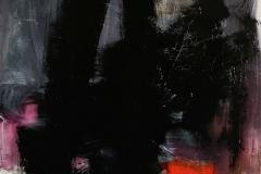 Nella mia ombra, 2020, tecnica mista su tela strappata e legata, 150x100 cm
