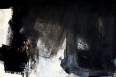 Resurrezione,2018, tecnica mista su tela strappata e legata, 100x100 cm