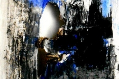 Cielo sopra la tempesta, tecnica mista su tela, 50 x 100 cm, 2014