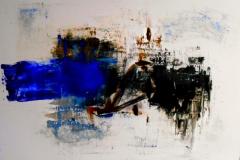 Ingannando la mente, tecnica mista su tela, 60 x 100, 2014
