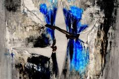 Les Fleurs du mal, tecnica mista su tela, 80 x 80 cm, 2014