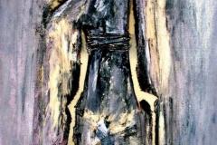 Nell'anima, tecnica mista su tela, 2012