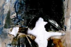 Uragano infernale, tecnica mista su tela, 80 x 120 cm, 2014