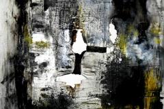 Enigmi partoriti dalla mente, tecnica mista su tela, 80 x 80 cm, 2014